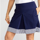 KINONA Kick Pleat Chic Golf Skort - Navy