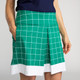 Kick Pleat Chic Golf Skort - Windowpane Green