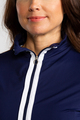 Sun's Out Zip Front Shrug - Navy