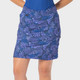 "18"" Wave Print Golf Skort Midnight"