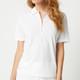 Jane Half Sleeve Polo - White