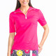 KINONA Keep it Covered Short Sleeve Mock - Flamingo