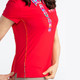 KINONA Button & Run Short Sleeve Polo - Red