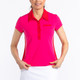 KINONA Button & Run Short Sleeve Polo - Flamingo