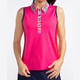KINONA Button & Run Sleeveless Polo - Flamingo