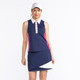 KINONA Button & Run Sleeveless Polo - Navy