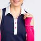 KINONA Button & Run Sleeveless Polo - Navy