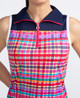 KINONA Sunny Days Sleeveless Mock - Mad Plaid