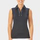 Nancy Lopez Subtle Sleeveless Polo - Black