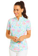 IBKUL Flamingo Short Sleeve Mock (2 colors)