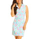 IBKUL Flamingo Sleeveless Mock Dress (2 colors)
