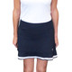 Golftini Pull-On Mesh Ruffle Skort - Top Golf Navy