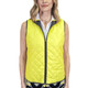 Golftini Quilted Reversible Wind Vest - Yellow/Gray