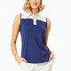 BelynKey Colorblock Sleeveless Polo - Ink/Chalk