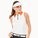 BelynKey Zip Keystone Sleeveless Polo - Chalk/Orange