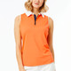 BelynKey Zip Keystone Sleeveless Polo - Orange
