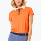 BelynKey Zip Keystone Short Sleeve Polo - Orange