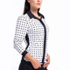 KINONA Black Dots Splouse Long Sleeve Polo
