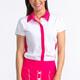 Cap It Off Short Sleeve Polo - White/Flamingo