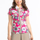 Cap It Off Short Sleeve Polo - Flower Power