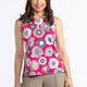 Keep it Covered Sleeveless Mock - Flower Power