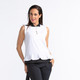 Layered Look Sleeveless Polo - White/Black