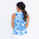 Frontline Sleeveless Mock - Tie Dye Blue