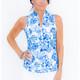 Frontline Sleeveless Mock - Tie Dye Blue