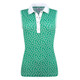 Eileen Sleeveless Polo - Seaweed Dots