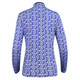 Daily Sports Nance Royal Blue Camo Long Sleeve Mockneck