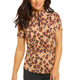 Le Leopard Short Sleeve Mock