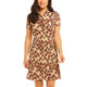 Le Leopard Short Sleeve Mock Dress