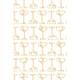 SanSoleil SolShine Foil Print Long Sleeve Mocks - Champagne