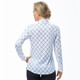 SanSoleil SolShine Foil Long Sleeve Mock - Knotical Blue