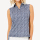 BelynKey Mesh Panel Sleeveless Polo - Laguna
