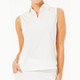 BelynKey Mesh Panel Sleeveless Polo - Chalk