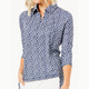 BelynKey Mesh Panel 3/4 Sleeve Polo - Laguna