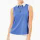 BelynKey Zip Keystone Sleeveless Top - Ocean