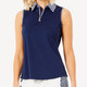 BelynKey Zip Keystone Sleeveless Top - Laguna