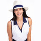 Waistline Winner Sleeveless Golf Top - White
