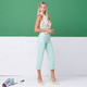 Masters Crop Capri - Green Stripe