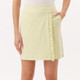 Basic Ruffle Golf Skort - Yellow Stripe