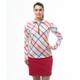 SanSoleil SolCool Long Sleeve Polo - Hop Scotch