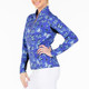 Katelyn Long Sleeve Mock - Blue Butterfly
