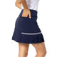 Side Pleat Performance Skort - Blueberry
