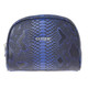 Cutler Gleneagles Blue Croc Cosmetic Case