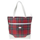 Cutler Balmoral Red Tartan Check Large Tote