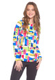 IBKUL Mondrian Long Sleeve Crewneck