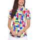 IBKUL Mondrian Short Sleeve Zip Mock