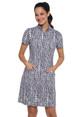 IBKUL Carie Short Sleeve Mock Dress